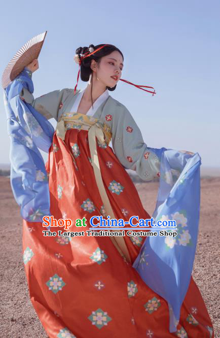 Chinese Tang Dynasty Palace Lady Hanfu Dress Traditional Ancient Court Maid Costumes for Women