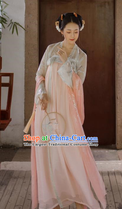 Chinese Tang Dynasty Court Lady Hanfu Dress Traditional Ancient Imperial Consort Costumes for Women