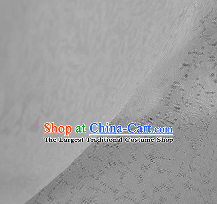 Traditional Chinese Classical Apricot Flowers Pattern Design White Silk Fabric Ancient Hanfu Dress Silk Cloth