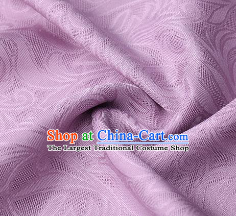 Traditional Chinese Classical Phoenix Flower Pattern Design Lilac Silk Fabric Ancient Hanfu Dress Silk Cloth