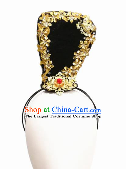 Chinese Traditional Tao Li Cup Classical Dance Hair Accessories Fan Dance Wig Chignon Headdress for Women