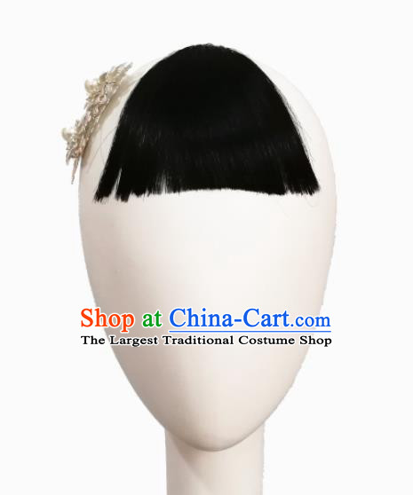 Traditional Chinese Classical Dance Young Mistress Hair Accessories Fan Dance Wig Chignon Headdress for Women
