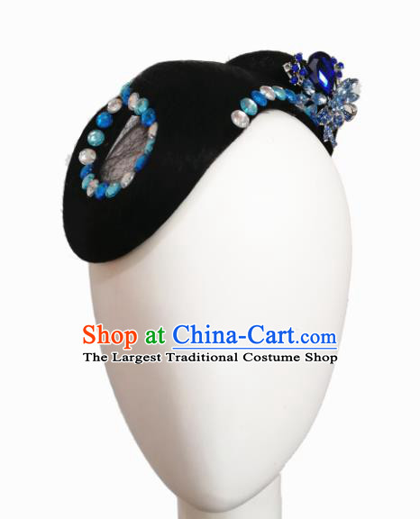 Traditional Chinese Classical Dance Qie Qiao Hair Accessories Fan Dance Wig Chignon Headdress for Women