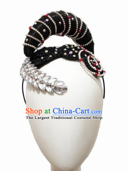 Chinese Traditional Ethnic Dance Hair Accessories Ewenki Nationality Dance Headwear for Women