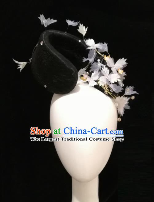 Traditional Chinese Classical Dance Reed Jian Jia Hair Accessories Fan Dance Wig Chignon Headdress for Women