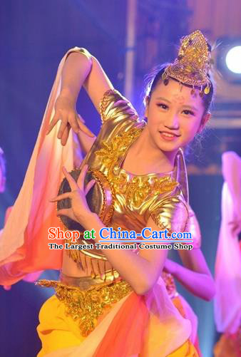 Chinese Traditional Classical Dance Dunhuang Drum Dance Outfits Group Dance Costume for Women