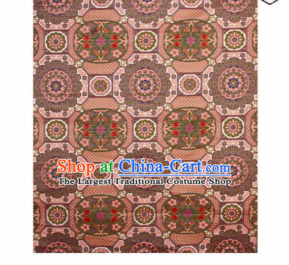 Asian Chinese Traditional Pattern Brocade Buddhism Satin Fabric Chinese Silk Material