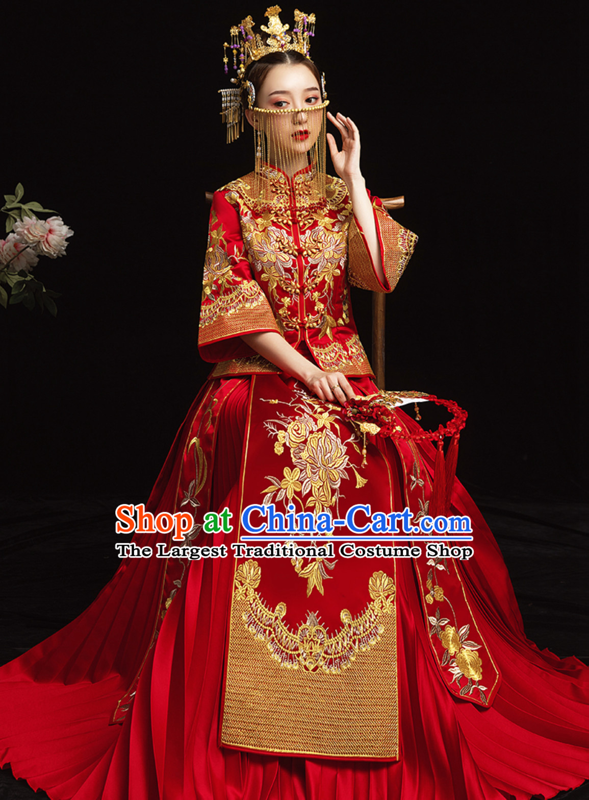 Top Chinese Empress Design Beautiful Bride Wedding Clothing for Women