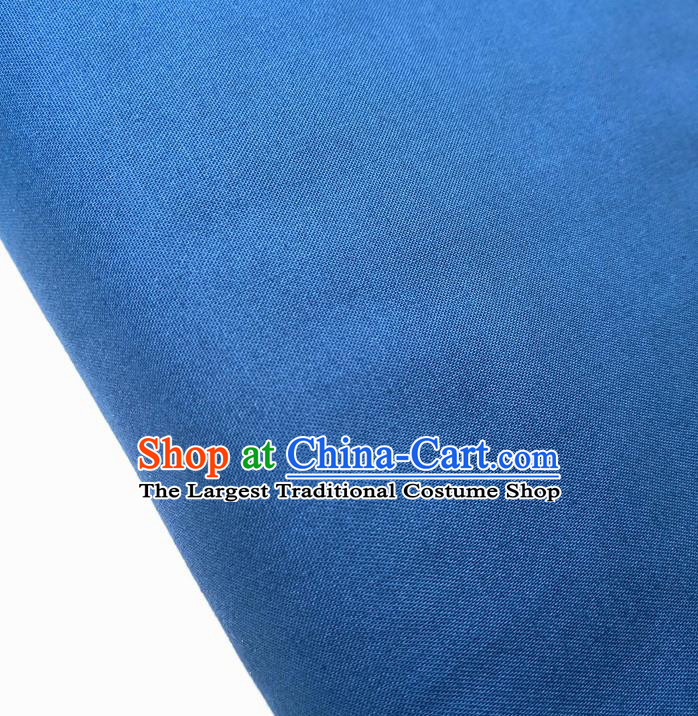 Traditional Chinese Blue Fabric Ancient Hanfu Cheongsam Cotton Cloth