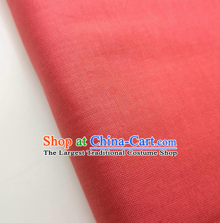 Traditional Chinese Red Fabric Ancient Hanfu Cheongsam Cotton Cloth