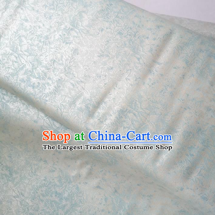 Traditional Chinese Cheongsam Classical Pattern White Brocade Fabric Ancient Hanfu Silk Cloth