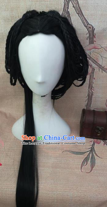 Chinese Traditional Cosplay Nobility Lady Wigs Ancient Palace Princess Wig Sheath Hair Accessories for Women