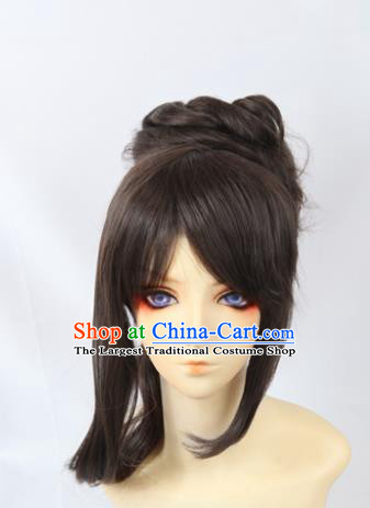Japanese Traditional Cosplay Onmyoji Wigs Sheath Ancient Geisha Wig Hair Accessories for Women