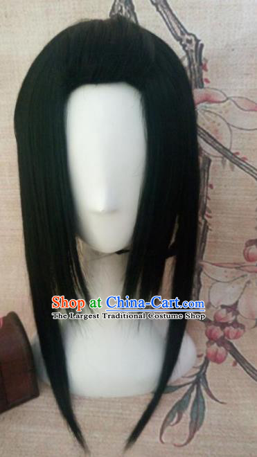 Chinese Traditional Cosplay Swordsman Wigs Ancient Goddess Wig Sheath Hair Accessories for Women
