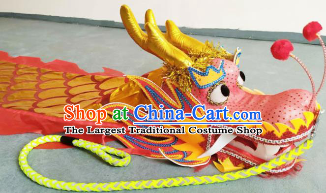 Chinese Folk Dance Dragon Dance Competition Red Dragon Head Traditional Dragon Dance Prop for Adult