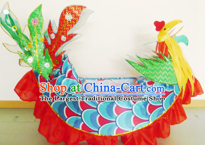 Chinese New Year Folk Dance Phoenix Boat Traditional Dance Prop for Kids