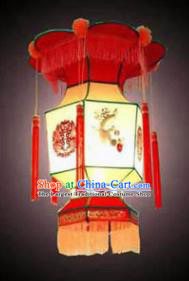 Chinese Traditional Painting Plum Palace Lantern New Year Hanging Lamp Lantern Festival Lamp