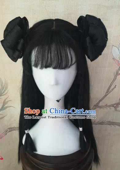 Chinese Traditional Cosplay Swordswoman Li Bilian Wigs Ancient Nobility Lady Wig Sheath Hair Accessories for Women