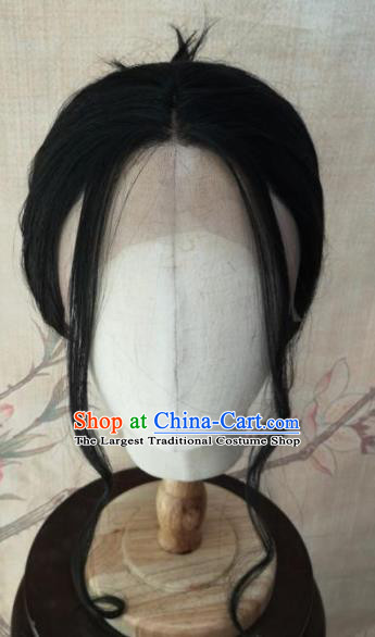 Chinese Traditional Cosplay Swordswoman Tong Xiangyu Wigs Ancient Nobility Lady Wig Sheath Hair Accessories for Women