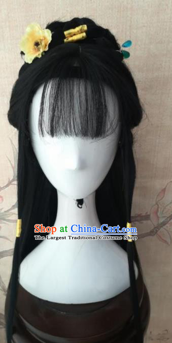 Chinese Traditional Cosplay The Legend of the Condor Heroes Wigs Ancient Princess Wig Sheath Hair Accessories for Women