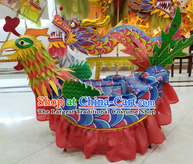 Chinese Lantern Festival Dance Phoenix Boat Traditional New Year Dragon Dance Prop Complete Set for Adult