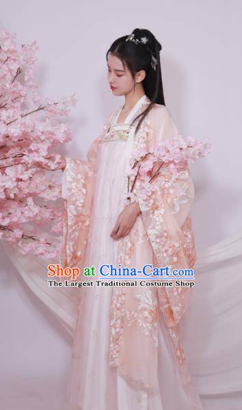 Traditional Chinese Tang Dynasty Court Replica Costumes Ancient Royal Princess Hanfu Dress for Women