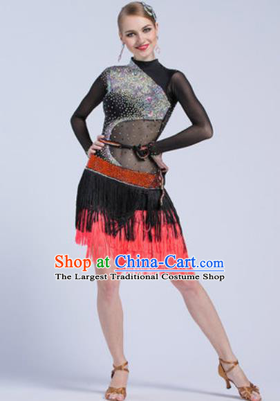 Professional Latin Dance Competition Dress Modern Dance International Rumba Dance Costume for Women