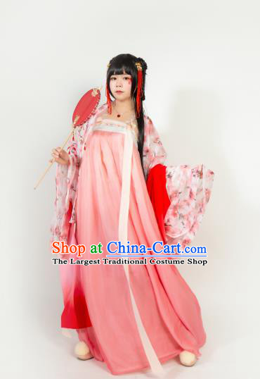 Ancient Chinese Tang Dynasty Nobility Lady Hanfu Dress Court Princess Historical Costumes for Women