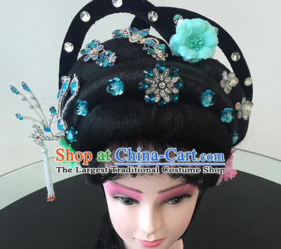 Chinese Beijing Opera Headgear Traditional Peking Opera Diva Wig and Hair Accessories for Women