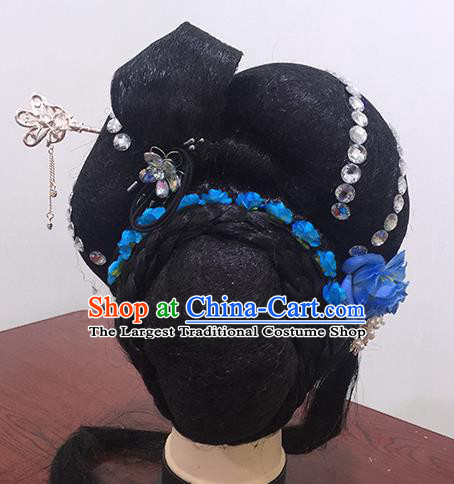 Chinese Beijing Opera Rich Countess Headgear Traditional Peking Opera Wig Sheath and Hair Accessories for Women