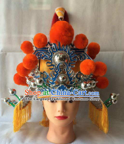 Chinese Beijing Opera Royal Highness Helmet Traditional Peking Opera Minister Hat Headwear for Men
