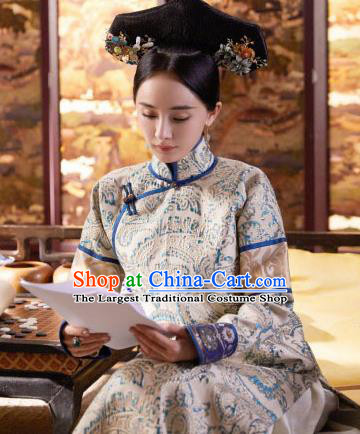 Ancient Chinese Drama Princess Dress Traditional Qing Dynasty Imperial Consort Historical Costumes for Women