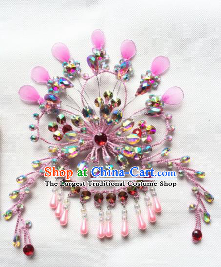 Chinese Beijing Opera Diva Phoenix Hairpins Traditional Peking Opera Hair Accessories for Women