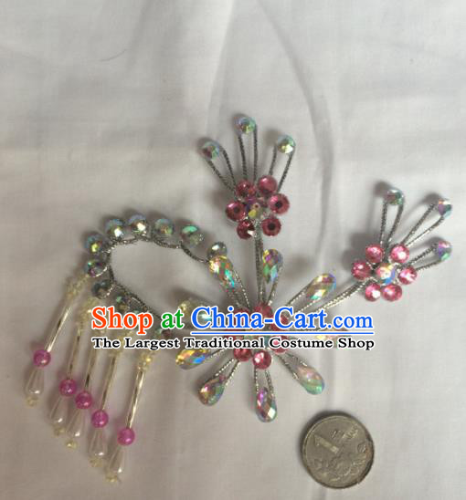 Chinese Beijing Opera Diva Hair Claw Hairpins Traditional Peking Opera Hair Accessories for Women