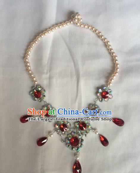 Chinese Beijing Opera Princess Necklace Traditional Peking Opera Diva Necklet Accessories for Women