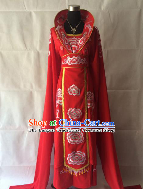 Chinese Beijing Opera Queen Red Dress Traditional Peking Opera Empress Costume for Women
