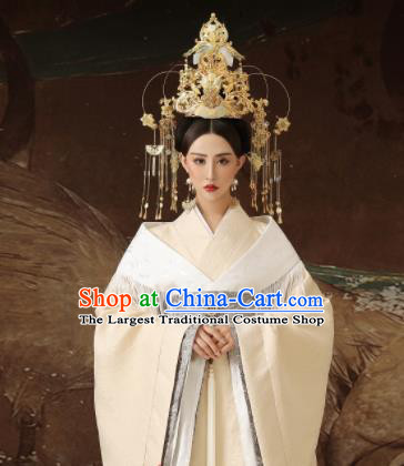 Chinese Ancient Imperial Consort Hanfu Dress Traditional Han Dynasty Court Lady Costumes and Headpiece for Women