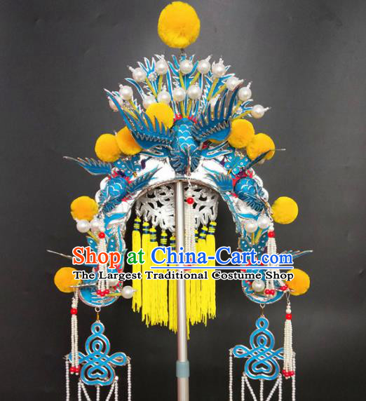 Chinese Beijing Opera Queen Phoenix Coronet Traditional Peking Opera Hat Hair Accessories for Women