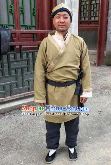 Chinese Ancient Traditional Han Dynasty Civilian Costume for Men