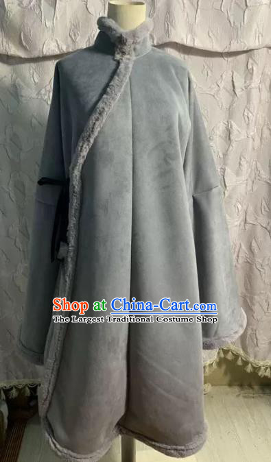 Chinese Ancient Nobility Lady Grey Coat Traditional Ming Dynasty Princess Costume for Women