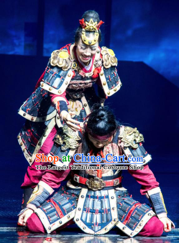 Chinese The Romantic Show of Sanya Stage Performance General Dance Costumes and Headpiece for Women for Men