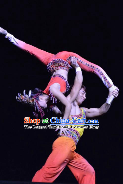 Chinese The Romantic Show of Sanya Stage Performance Folk Dance Costumes for Women for Men
