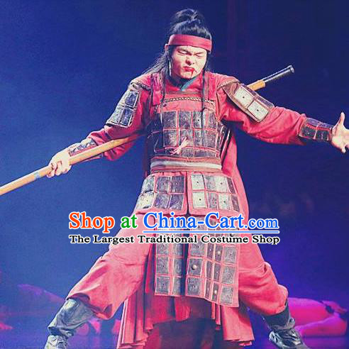 Chinese The Romantic Show of Sanya Stage Performance Dance General Costume for Men