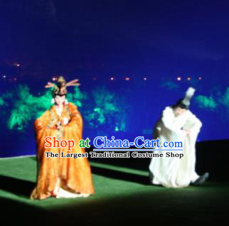 Chinese Impression Da Hong Pao Dance Stage Show Emperor and Empress Costumes for Women for Men