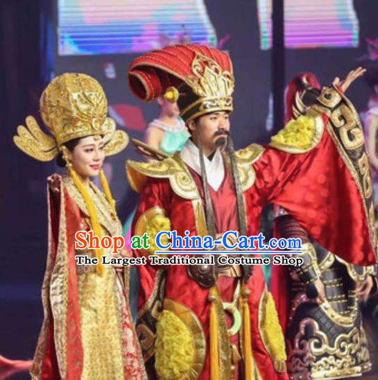 Chinese The Romantic Show of Songcheng Stage Show Emperor and Empress Costumes for Women for Men