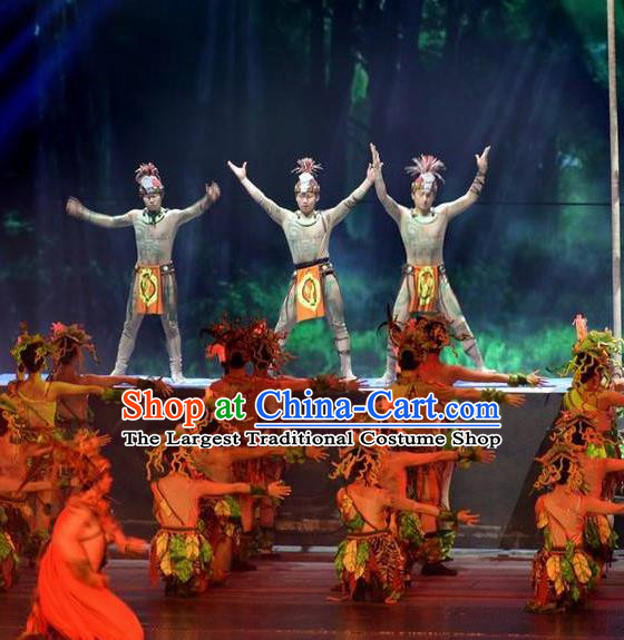 Chinese The Romantic Show of Songcheng Liangzhu Culture Stage Performance Dance Costume for Men