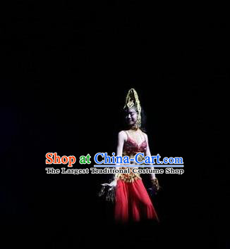 Chinese The Romantic Show of Songcheng Liangzhu Culture Dance Dress Stage Performance Costume for Women