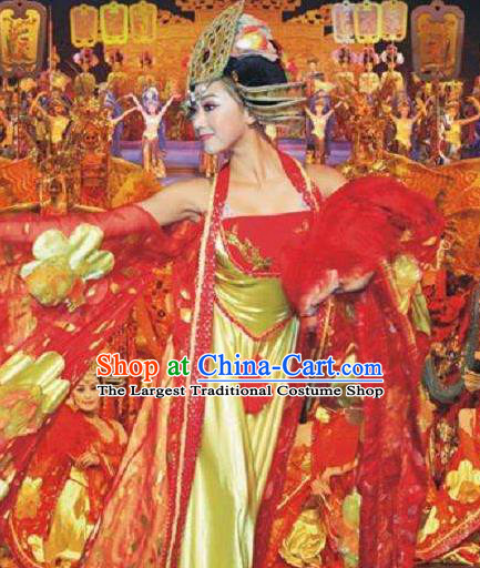 Chinese The Romantic Show of Songcheng Court Dance Dress Stage Performance Costume for Women