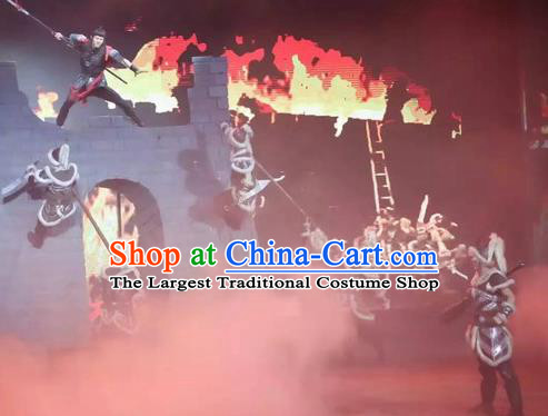Chinese The Romantic Show of Songcheng Military Hardware Stage Performance Donald Dance Costume for Men