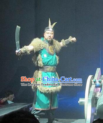 Chinese The Romantic Show of Songcheng Military General Stage Performance Dance Costume for Men